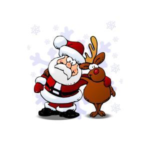etikett-weihnachtsmann-und-rudolf